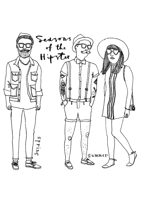 Page From The Hipster Colouring Book Click To Enlarge